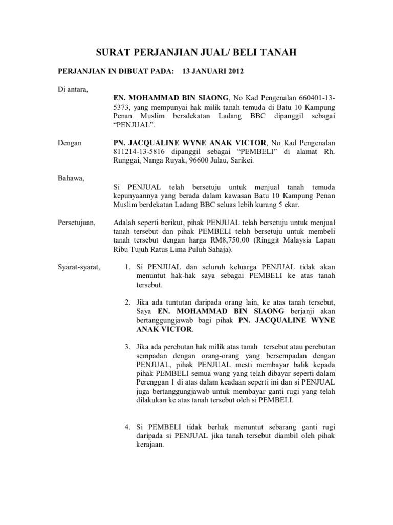 Surat Perjanjian Jual