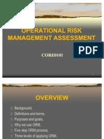 CORE0101 Oper Risk Mgt Assessment