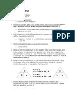 Chemistry Unit 3 Review