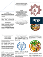 Triptico Del Dia Mundial de La Alimentacion EST 151