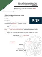 Format Surat Peminjaman Tempat Fakultas