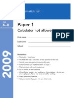 2009 Level 6-8 Paper 1 - Copy