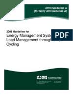 AHRI - Guideline a-2008