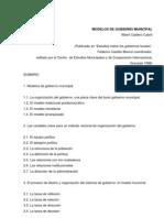 Modelos de Gobierno Municipal