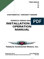 TSIO-550 Operation Manual