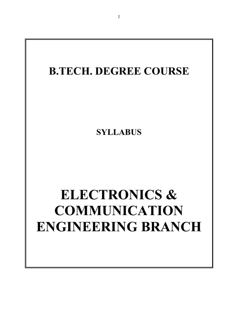 Electronics And Communication Mg University Syllabus Amplifier Online Circuit Simulator Analog Digital Mcu Vhdl Rf Circuits Mosfet