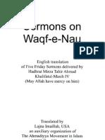Sermons on Waqf-E-Nau by Hazrat Mirza Tahir Ahmad (Ra)