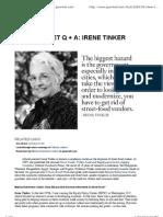 Irene Tinker, Q A_ Food + Cooking _ Gourmet