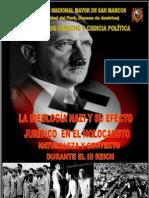 LA IDEOLOGÍA NAZI Y SU EFECTO JURÍDICO  EN EL HOLOCAUSTO