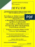 Obavjest Za MEVLUD - 12 R-Evvel - 1433 h.g.