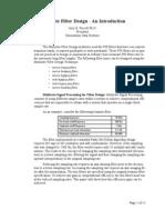 Multirate Filter Design