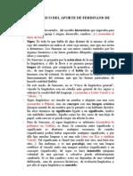 ESQUEMA BÁSICO DEL APORTE DE FERDINAND DE SAUSSURE