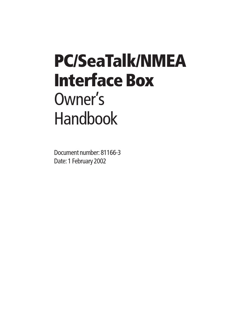 Raymarine Seatalk To Pc Nmea Interface Electromagnetic 0183 Db9 Wiring Diagram Compatibility Electrical Connector