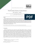 Notch Sensitive Fracture Polycarbonate