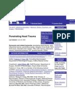 Penetrating Head Trauma, Journal
