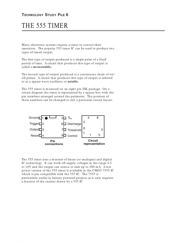 Block Diagram Of Ic Timer Such As 555 And Its Working Circuit Electrical Components Electronic Circuits