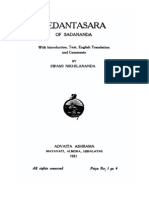 Vedantasara of Sadananda, translated with commentary of Swami Nikhilananda, of Ramakrishna Order (1931)
