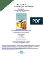 Ayurvedic Cooking for Self Healing Ma en Gel Exemplar Imperfect Copy Lad U Lad v.07148 1Preface