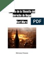Karl Marx Critica de La Filosofia Del Derecho de Hegel