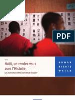 Haïti, un rendez-vous avec l'Histoire Les poursuites contre Jean-Claude Duvalier