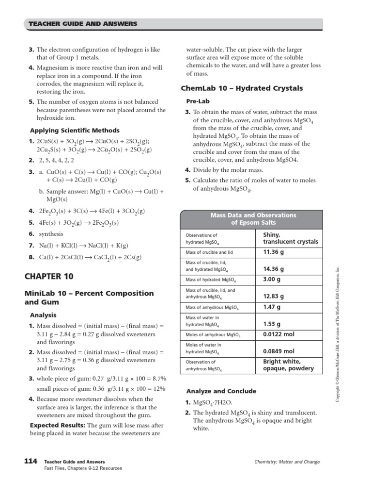 worksheet The Mole Worksheet Answers chapters 10amp11 resources answer key mole unit stoichiometry