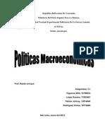 Políticas macroeconómicas unefa trabajo