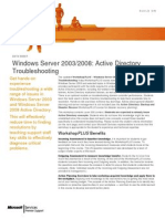 Workshop Plus - Windows Server 2003-2008 - Active Directory Troubleshooting (2)