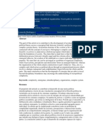 Complejidad y emergencia de la organización política