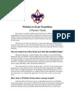 Web2scout Transition - A Parents Guide