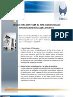 6 PASOS PARA MANTENER TU AIRE ACONDICIONADO FUNCIONANDO DE MANERA EFICIENTE