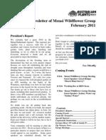 Australian Wild Flowers Society February 11 Newsletter
