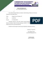Surat Keterangan Aktif Organisasi