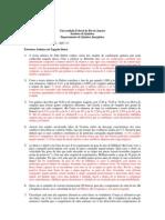LISTA DE EXERCÍCIOS quimica inorganica IQG 111 com gabarito
