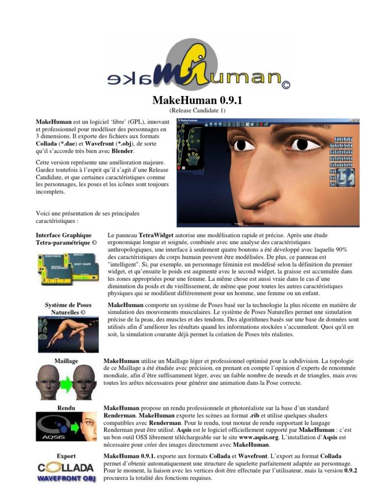 MakeHuman-0 91