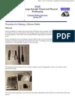 Silicone Mold Procedure