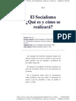 El Socialismo ¿Que es y Como Se Realizara? - Luis Emilio Recabarren