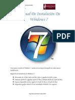 Manual de Instalacion de Windows Seven