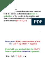 Weak Acid Calc