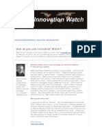 Innovation Watch Newsletter 11.02 - January 28, 2012