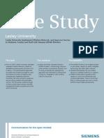 Lesley University-Siemens Case Study_EN
