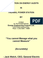 Energy Audits in Thermal Power Station