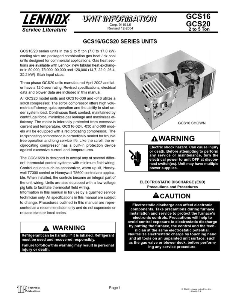 Lennox Gcs16 090 Wiring Diagram Somurich Com