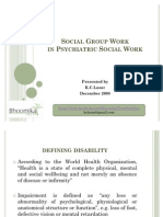Lazar - Social Group Work in PSW