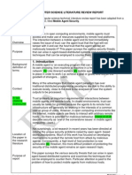 CS Report Mobile Agent - Model Sample 2007