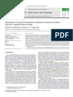 Optimization of Natural Fermentative Medium for Selenium-Enriched