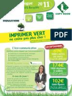 Tarifs Imprimerie Verte Web 2011