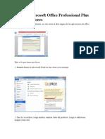 Activar Microsoft Office Professional Plus 2010 Sin Errores