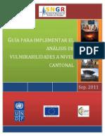 Guia Para Implementar El Analisis de Vulnerabilidad a Nivel Cantonal