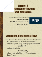 Ground Water Flow and Well Mechanics