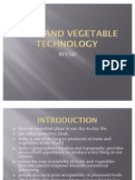 Fruit and Vegetable Technology